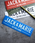 JACK & MARIE ステッカー170  SQUARE(4Colors)(BLUE,WHITE,OLIVE DRAB,RED)