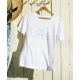 JACK & MARIE リラックスTシャツ WOMAN WH/BL