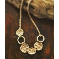 JACK & MARIE METAL COIN NECKLACE(2Colors)(ジャックアンドマリー メタル コイン ネ...