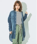 Johnbull DENIM  WORK  SHIRTS  デニムワークシャツ  Women's