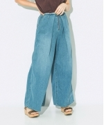 Johnbull DENIM  LOOP  WIDE  PANTS  デニムループワイドパンツ  Women's