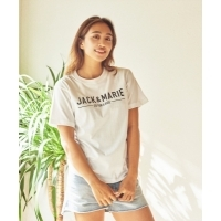 JACK  &  MARIE  Tシャツ  メインロゴ  WH  Unisex