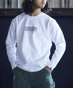 UNIVERSAL  OVERALL×JACK  &  MARIE  L/S  Tシャツ  WH  Unisex