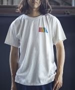 Free  &  Easy  NATURAL  RAINBOW  SS  Tシャツ  WH  Unisex