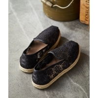 TOMS  DECONSTRUCTED  ALPARGATA  ROPE  スリッポン  BK  Women's