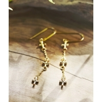 TEMPLE OF THE SUN CROSS EARRINGS (テンプル オブ ザ サン クロス イアリング)(GOLD)...