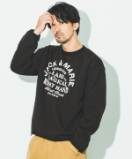 JEMORGAN × SIMON PERINI × JACK & MARIE BOAREVERSIBLE L/S CREW NECK TEE(3Colors)(NATURAL/GRAY/BLACK)(ジェーイーモーガン サイモンペリーニ ジャックアンドマリー)(Men's)(トレーナー)