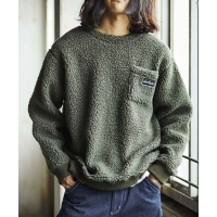 WILD THINGS FLUFFY BOA L/S CREW(2Colors)(NATURAL/OLIVE)(ワイルドシングス フラッ...
