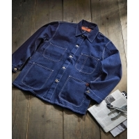 UNIVERSAL OVERALL COLOR COVERALL 80sDENIM( INDIGO)(ユニバーサルオーバーオール カ...