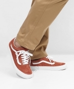 VANS OLD SKOOL(Bumt Brick/True White)(バンズ オールドスクール)(Unisex)(VN0A4BV5V75)