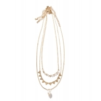 JACK & MARIE 3necklace C(Gold)(ジャックアンドマリー 3連ネックレス)(ネックレス)