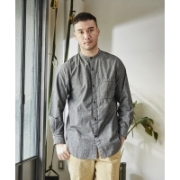 makerhood × GORDON MILLER BAND COLLAR SHIRT(2Colors)(メーカーフッド×ゴードン ミ...