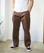 COWDEN one tuck trousers(3Colors)(カウデン ワンタックパンツ)(Unisex)(S/M/L/XL)(BLACK,GREEN,BROWN)(CD-3C-BM-006)