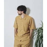 UNIVERSAL OVERALL×JACK & MARIE LINEN MIX OPEN COLOR SHIRT(2Colors)(ユニバーサル...