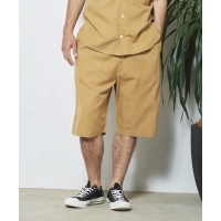 UNIVERSAL OVERALL×JACK & MARIE LINEN MIX CHEF SHORTS(2Colors)( ユニバーサルオー...
