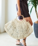 THE DHARMA DOOR The Carly Bag(NATURAL)(ザダーマドア カーリーバッグ)(トートバッグ)