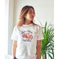 SIMON PERINI × JACK & MARIE S/S CREW NECK T-SHIRT OFF SHORE and OFF ROAD (WHITE)...