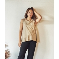 Marie Miller LAYERED NOSLEEVE TOPS(4Colors)(マリーミラー レイヤードノースリーブ...