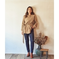 Marie Miller WAFFLE BELT TOPS(2Colors)(マリーミラー ワッフルベルトトップス)(Wome...