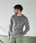 GORDON MILLER Bomber Heat Thermal crew(2Colors)(ゴードンミラー サーマルクルー)(HEATHER GRAY,BLACK)(Men's)