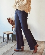 Marie Miller SLIT DENIM PANTS(2Colors)(マリーミラー スリット デニムパンツ)(Women's)(BLUE,INDIGO BLUE)
