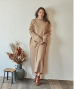Marie Miller OVER LONG KNIT DRESS(2Colors)(マリーミラー オーバーロングニットドレス)(Women's)(BEIGE,DARK GRAY)