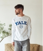 Champion T1011 RAGLAN L/S T-SHIRT YALE(3Colors)(チャンピオン ラグランTシャツ)(Men's)(WHITE,GRAY,NAVY)(C5-S403)