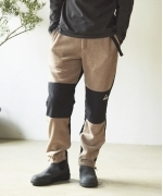 KELTY FLEECE SWITCHING EASY PANTS(CAMEL/BLACK)(ケルティ フリースイージーパンツ)(Men's)(KE-202-11009)